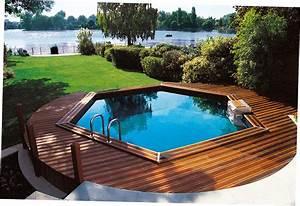 Piscine Semi Enterré Bois : piscine bois semi enterree ~ Premium-room.com Idées de Décoration