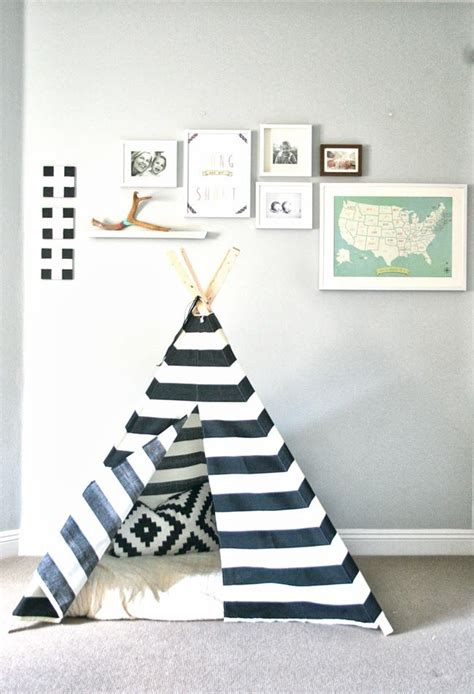 Tipi Zelt Kinderzimmer Weiß by Cool Fort Kleiner Indianer Kinder Zimmer Ideen