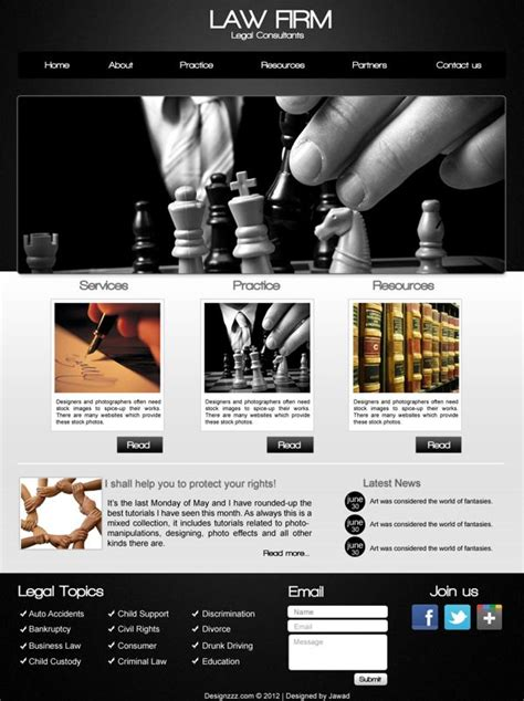 create  law firm web design