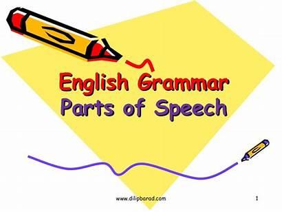 Speech Grammar Parts English Presentation Slideshare