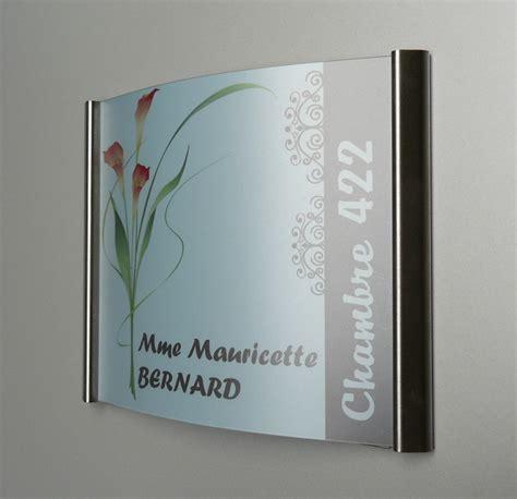 plaque de porte de bureau plaque de porte galbée en inox pli sign capitale
