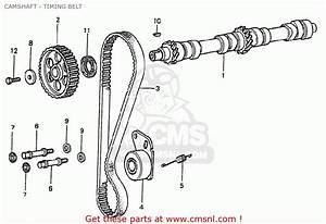 Honda Civic 1200 Eb3 1978 3d 5s  Kc  Camshaft - Timing Belt