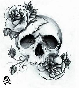 Dessin Tete De Mort Avec Rose : les 25 meilleures id es de la cat gorie dessins de t te de mort sur pinterest tatouage cuisse ~ Melissatoandfro.com Idées de Décoration