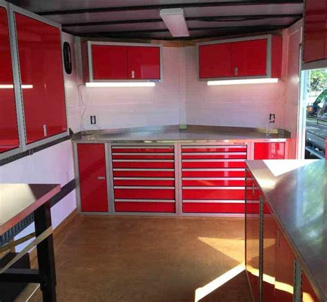 Race Trailer Cabinets plan your enclosed trailer cabinet layout for the race season