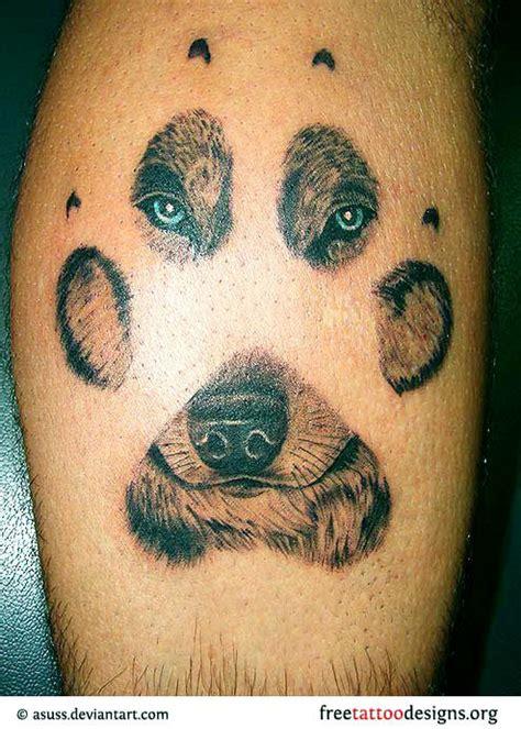 wolf print tattoo ideas  pinterest wolf paw