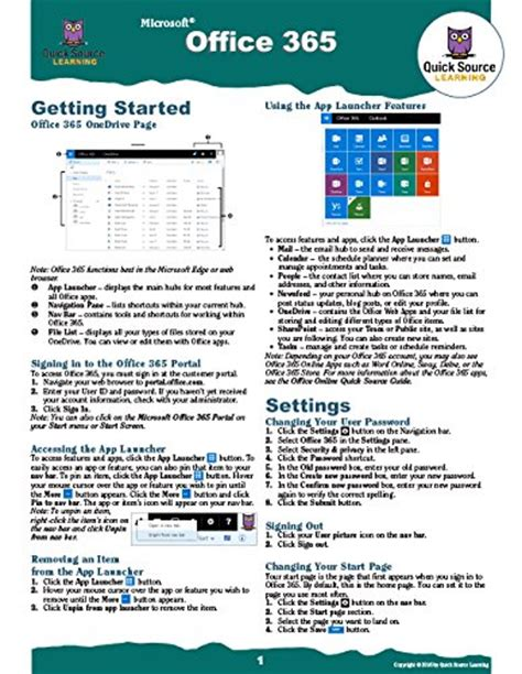 Office 365 Reference Guide by Office 365 Source Reference Guide Golf Clubs