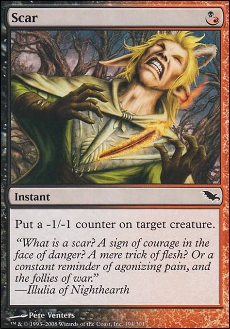 Mtg Infect Deck Tapped Out by Scar Shm Mtg Card