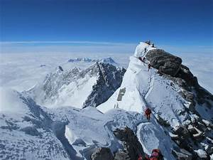 looking back at the south summit of everest ...