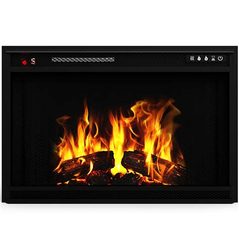"Elite Flame 33"" Led Electric Firebox Fireplace Insert Ebay"