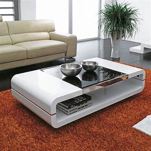 design modern high gloss white coffee table with black With white coffee table with dark top