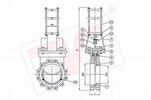 Pneumatic Knife Gate Valve With Double Acting Cylinder