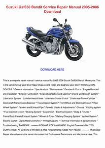Suzuki Gsf650 Bandit Service Repair Manual 20 By