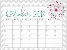 Printable September & October 2018 Calendar August 2019