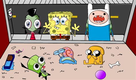 Zim, Spongebob, Finn Pet Store By Invadersponge On Deviantart