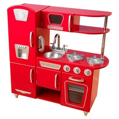 kidkraft red vintage kitchen reviews wayfair
