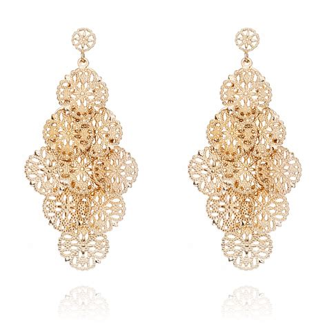 ingenious gold plated chandelier earring