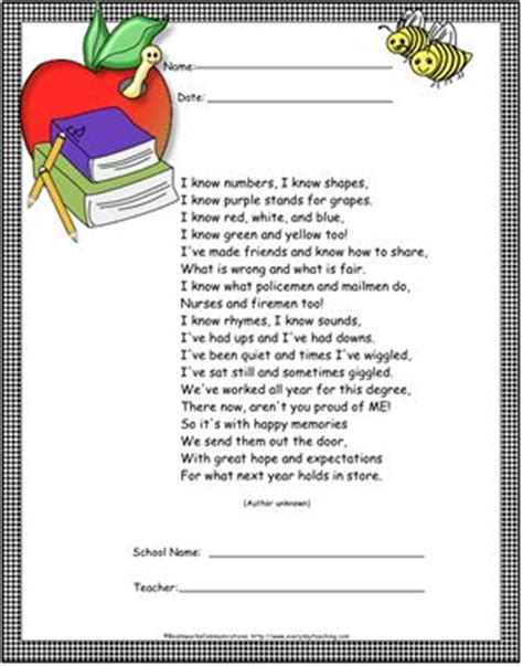 preschool graduation poem preschool graduation program sample search 696