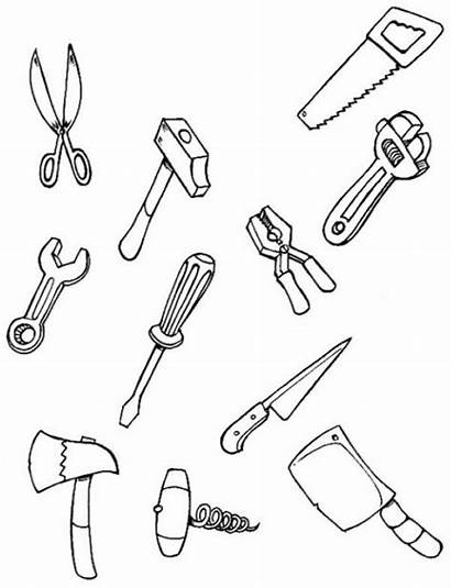 Coloring Tool Each Pages Tools Carpenter Hellokids