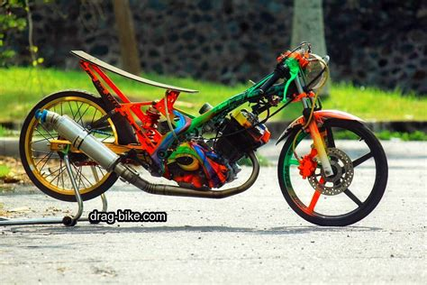 Satria Drag by 45 Foto Gambar Modifikasi Motor Satria Fu Drag Race Style
