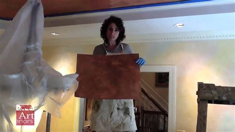 copper metallic paint finish  tray ceiling youtube