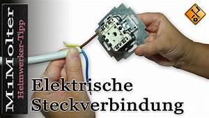 Deckenlampe Mit Schalter : kabel an lichtschaltern und steckdosen anschlie en steckverbindung wie m1molter youtube ~ Frokenaadalensverden.com Haus und Dekorationen