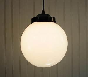 Winterport milk glass pendant light fixture large globe