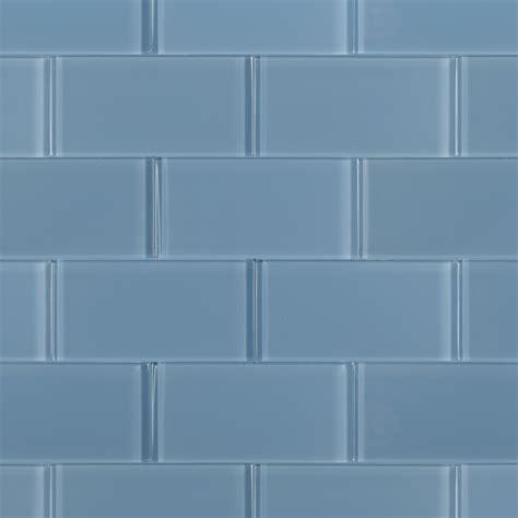 grey glass tile loft blue gray polished 3x6 glass tile