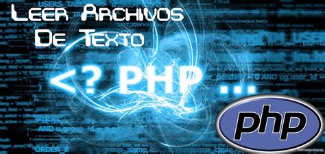 leer archivos de texto  php
