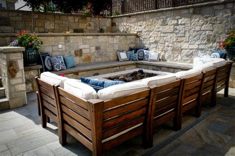 built in pit built in seating around fire pit for the home pinterest