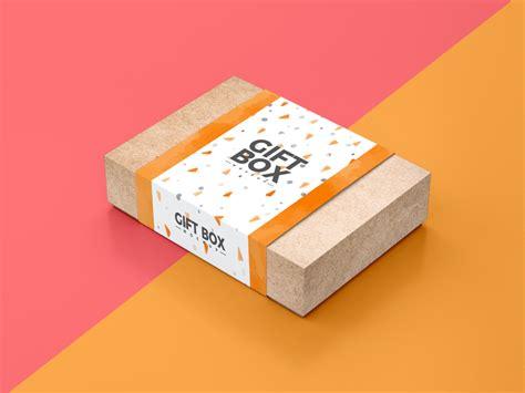 Free kraft paper disposable food bag packaging mockup psd. Free Craft Paper Gift Box Packaging Mockup PSD | Dribbble ...