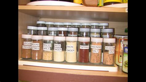 organized  spice cabinet    easier