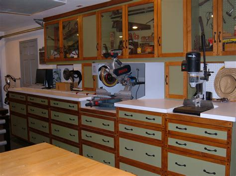 local cabinet shops one wall workshop woodworking plan we used standard garage