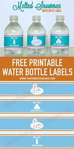 melted snowman water bottle labels that39s what che said With free water bottle stickers