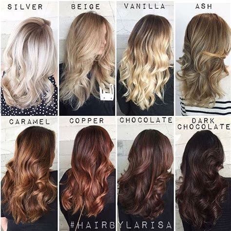 All Hair Colour Shades by One Of Our Fave Color Charts Of All Time By Larisadoll