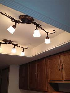 Convert that ugly recessed fluorescent ceiling lighting