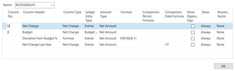 Howto Create Column Layouts For Account Schedules In