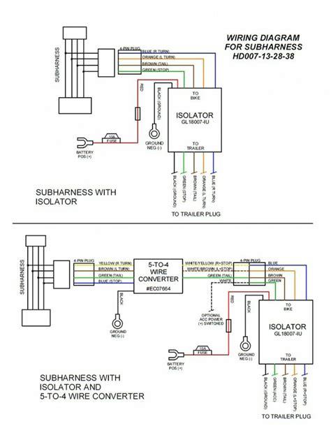 pin molex plug  play motorcycle trailer wiring