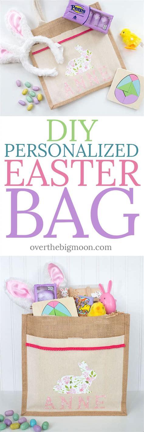 diy personalized easter bag  iron  vinyl