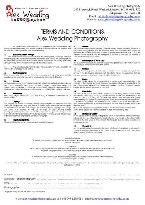 booking form template free and agreement conditiones wedding venue contract template business
