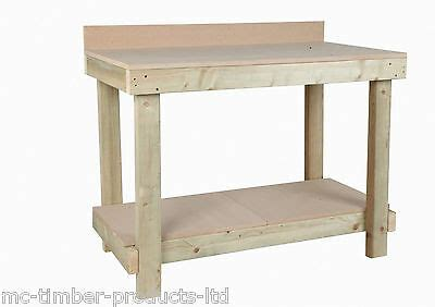 ft long mm thick mdf top work bench  rear