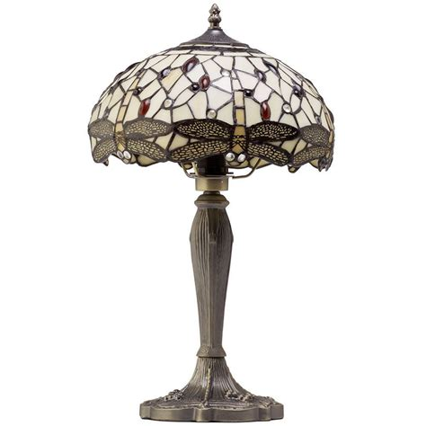 tiffany style lava l 1 light tiffany style table l with multi coloured glass