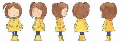 Modelsheet Raincoat Character Children
