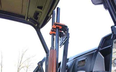 uf universal floor double gun mount  rubber butt utv gun racks