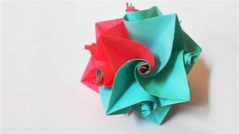 origami flower columbine diy crafts
