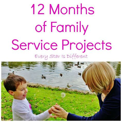 service projects for preschoolers every is different 12 months of family service projects 904