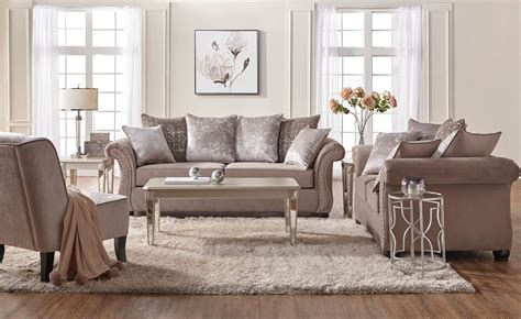 settee living room cosmo putty sofa and loveseat fabric living room sets