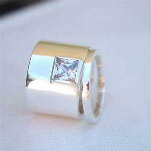 Unique Womens Wedding Rings Edgy Statement Sterling Ring