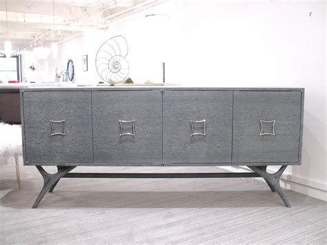 Grey Credenza - finn leg grey cerused credenza for sale at 1stdibs