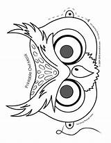Mask Owl Coloring Masks Halloween Animal Printable Pages Colouring Template Colour Animals Face Paper Craft Owls Printables Drawing Jr Preschool sketch template