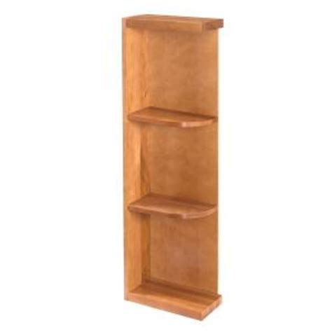 kitchen cabinet end shelf home decorators collection cinnamon assembled 6x36x12 in 5395